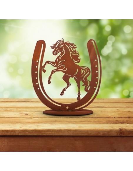 Geschenk für Reiter - Hufeisen mit Pferd in der Mitte