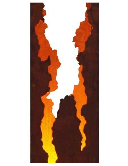 Dekosäule Taormina - 86 cm hoch - Gartendeko Rost im italienischen Stil - Rostsäule beleuchtet