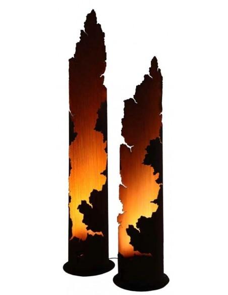 Gartendeko Rost - Rostsäule rund Messina Edelrost Deko im mediteranen Stil
