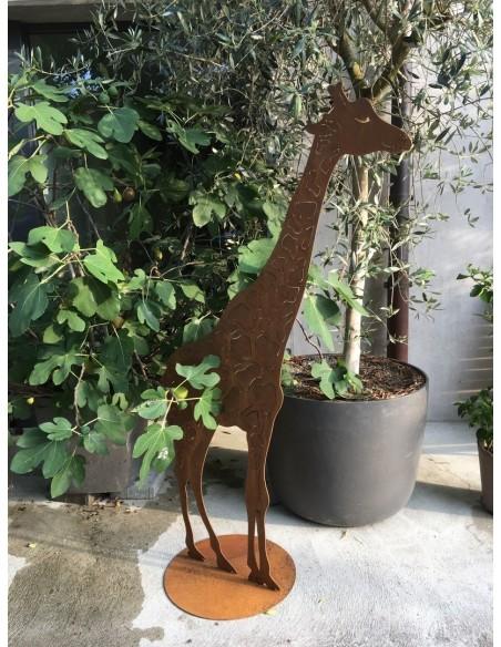 Dekofigur Giraffe aus Metall als Gartendeko im Afrika Stil afrikanische Dekorationsidee
