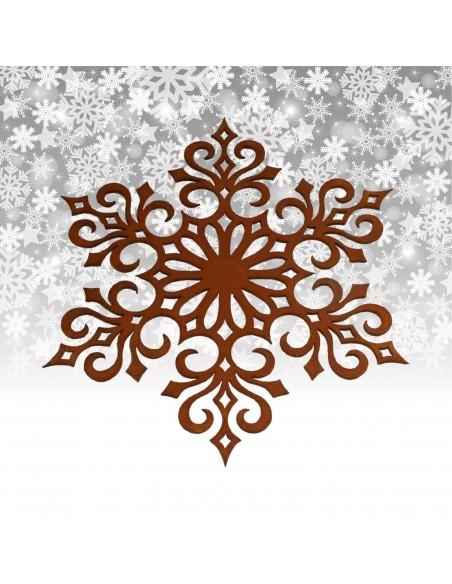 Weihnachtsbaumschmuck und Christbaumschmuck Christbaumschmuck Flocke 4, Ø 20 cm Filigran geschnittene rostige Schneeflocke als F