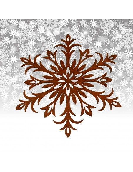 Winterdeko Schneeflocke als Fensterbild