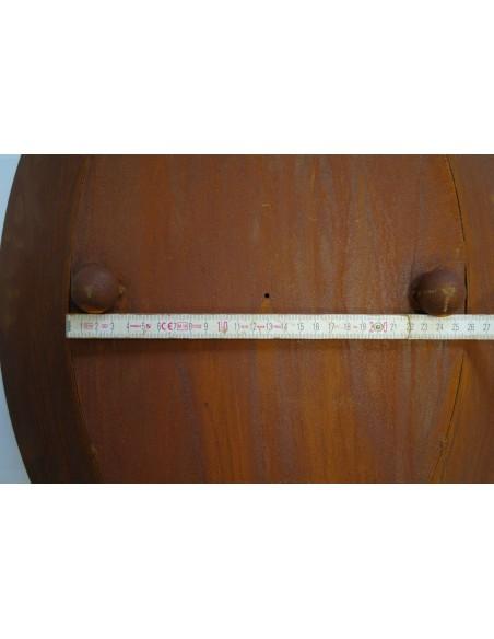 Ovale Rostschale als Wohndeko oder auf Säule für den Garten