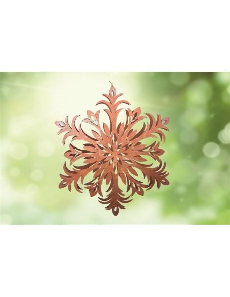 Gartendeko Rost Flocke 6 Schneekristall filigran gebogen Ø 20 cm  Edelrost