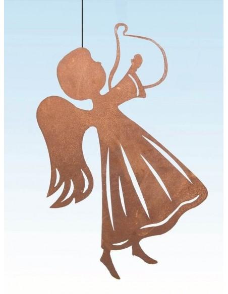 Weihnachtsbaumschmuck und Christbaumschmuck Edelrost Christbaumschmuck - Engel mit Harfe Edelrost Christbaumschmuck Engel mit Ha
