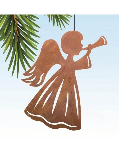 Weihnachtsbaumschmuck Engel mit Horn
