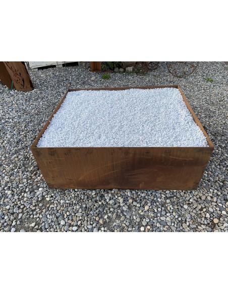Metall Blumentopf  rechteckig XXL 100 x 120 cm mit Boden - umgedreht als Podest verwendbar