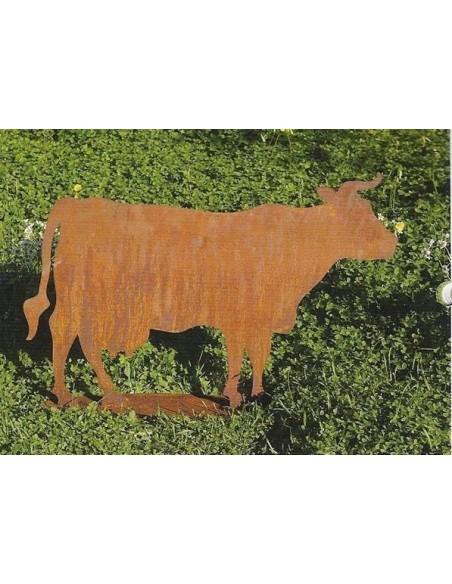 Kuh auf Platte 30 x 45 cm