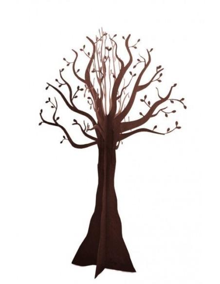 naturalistisch großer Deko Baum in schöner Rostfarbe