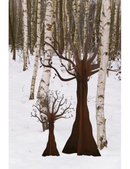 Deko Baum aus Edelrost für Ihren Garten