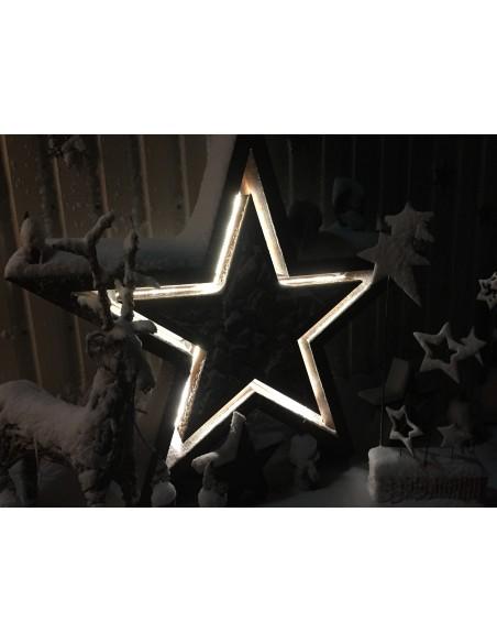 XXL Kaminholzregal Stern -Manila- inkl. LED Beleuchtung 220 cm Durchmesser