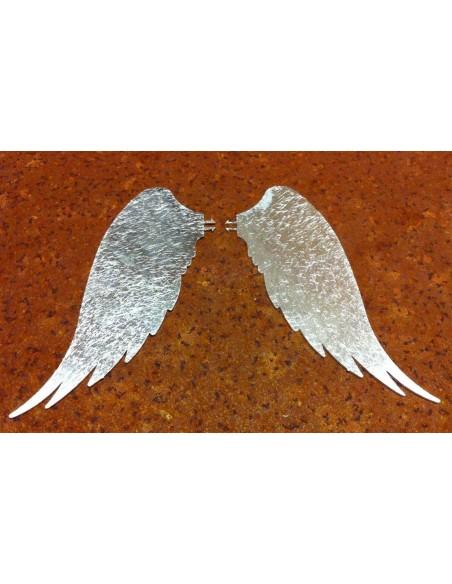 Engelsflügel Silber für Kerze - Kerzendeko Flügel