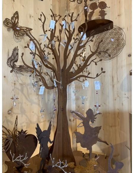 Rost Deko Baum ohne Blätter - künstlicher Baum Metall als großer Schmuckständer