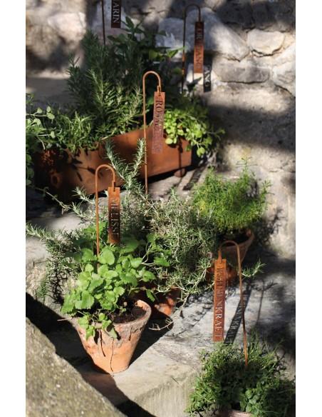 Kräuterschild Schnittlauch Kräutergarten mit Kräuterschilder selber gestalten