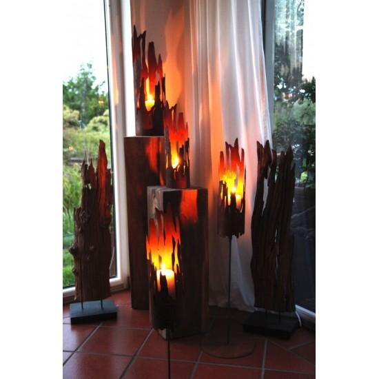 milanari Treibholz Windlicht Drift gro/ß /Ø 22 cm x H/öhe 40 cm