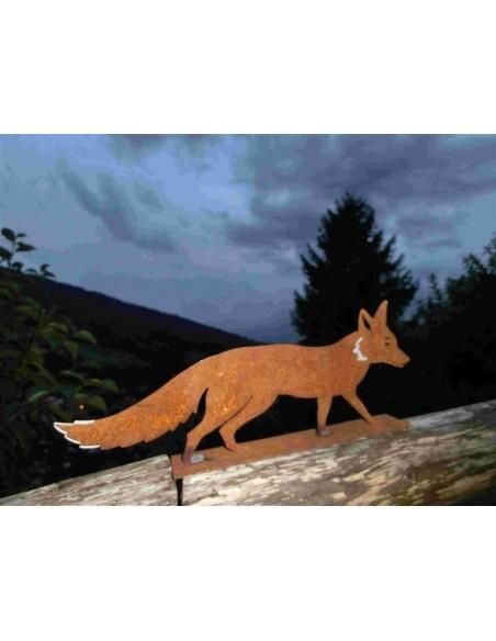 Gartendeko Fuchs Rostig