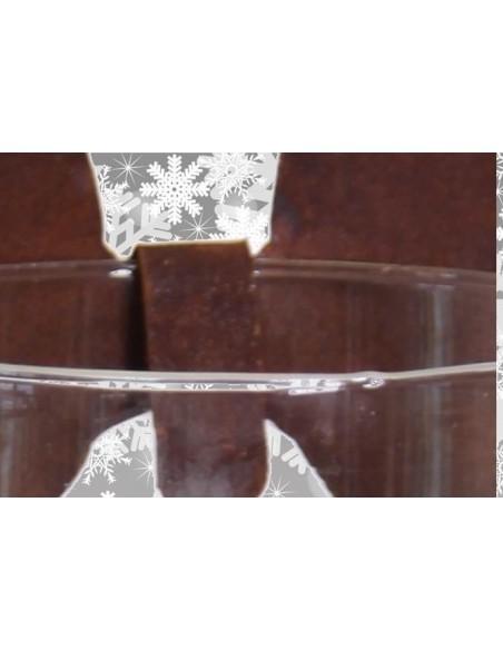 Weihnachtliche Glasdeko -  Flügel zum Einhängen nach unten