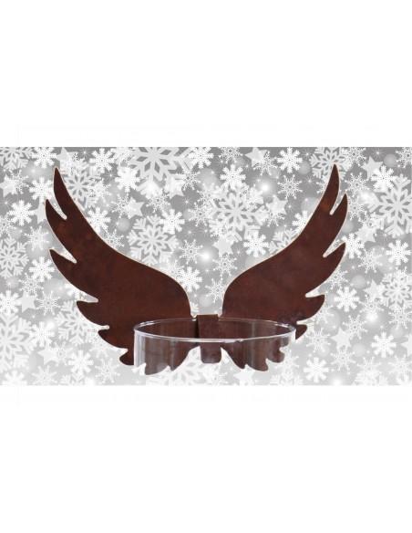 Hohe Engelsflügel nach oben zum Einhängen - Weihnachtsdeko aus Edelrost