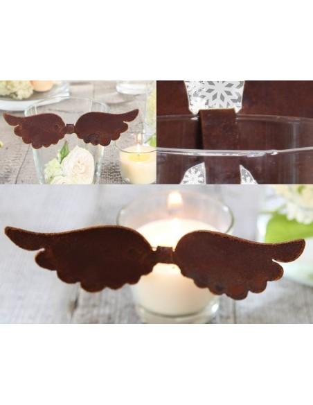 Deko Flügel zum Einhängen in Gläser und Vasen - kreative Weihnachtsdeko