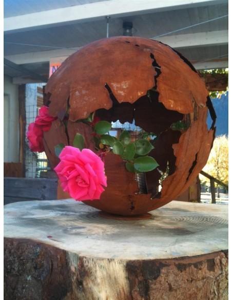Deko Kugel mit rose rustikal