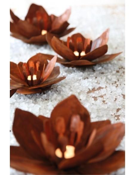 """Blume """"Fleur"""" aus Rost-Metall - klein Durchmesser 23 cm"""