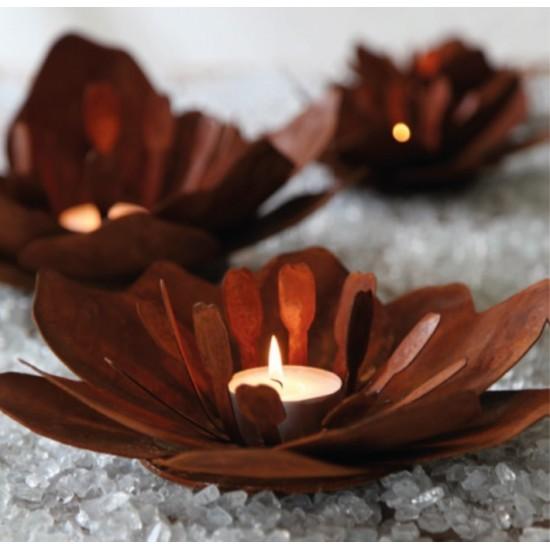 """Blume """"Fleur"""" aus Rost-Metall - mittel Durchmesser 27 cm"""