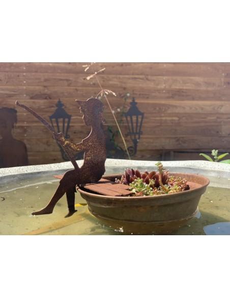 Blumentopf wasserdicht mit Deko Angler Saremo