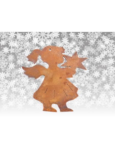Engelfiguren kaufen und Engel Bastel-Ideen Christbaumschmuck Engelchen mit Stern 3, Höhe 8 cm - klein Der Engel hält einen Stern