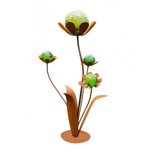Glasblume Ferrum, Rost, Höhe 96 cm