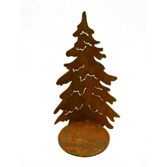 Gebogene Tanne 'Christbaum' auf Platte, Höhe 22,5 cm