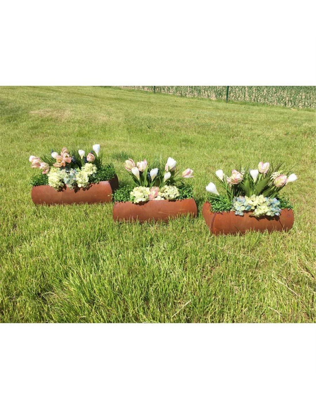 Edelrost Blumenkasten zum Aufhängen, z.b. an Zäune oder ...