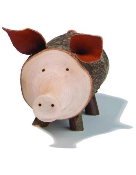 Spardose aus Holz  Sparschwein Rudi
