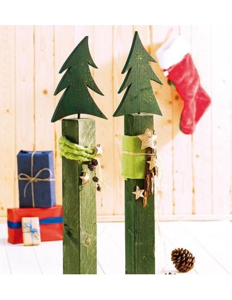 Bastelideen Buch - Holzpfosten dekorativ verziert