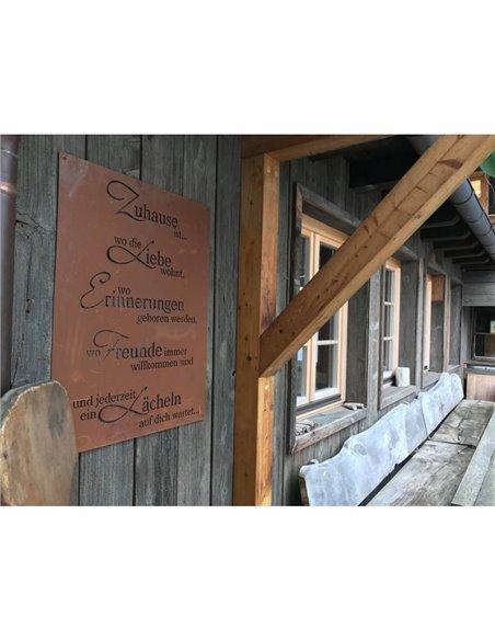 """Gedichttafel """"Lächelndes Zuhause"""" 80 x 60 cm"""