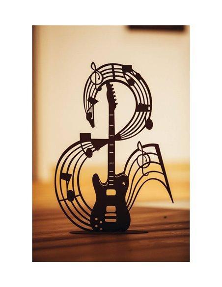 """Musiknote """"Guitar"""" auf Platte - 79 cm hoch"""