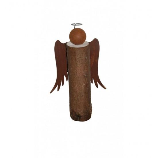 Engel aus Baumstamm 50cm mit Heiligenschein