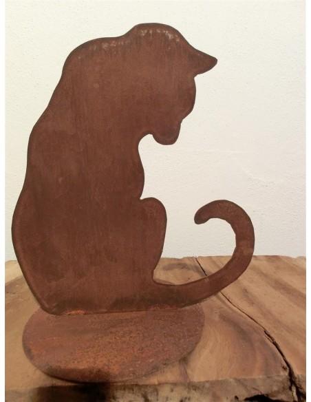 Deko Katzen und Mäuse Katze nach unten schauend Dekorative Katze auf Platte, welche nach unten sieht Individuelle Gestaltung Ihr