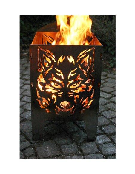 SvenskaV Feuerkorb L Wolf 47 cm hoch