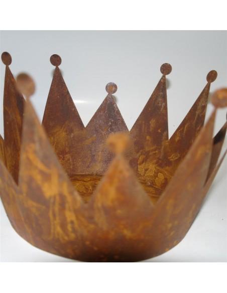 Rost Krone D: 18 cm zum Bepflanzen -Edelrostkrone Deko Kronen aus Metall Hübsch und