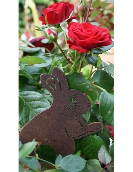 Beetstecker für Frühling und Sommer Edelrost Gartenstecker Hase Lindi klein Höhe 12 cm Dekoration nicht nur für Ostern Der Edelr