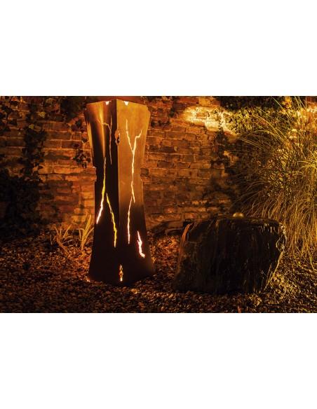 Metallkunst XXL Rostsäule Mystik tailiert, Höhe 110 cm Rostsäule Mystik tailiert, zum Beleuchten geeignet Diese Rostsäule wirkt