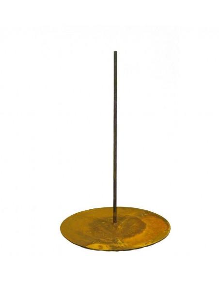 Standplatte Ø 45 cm für Gartenfiguren mit Eisenstange mittig 50 cm hoch