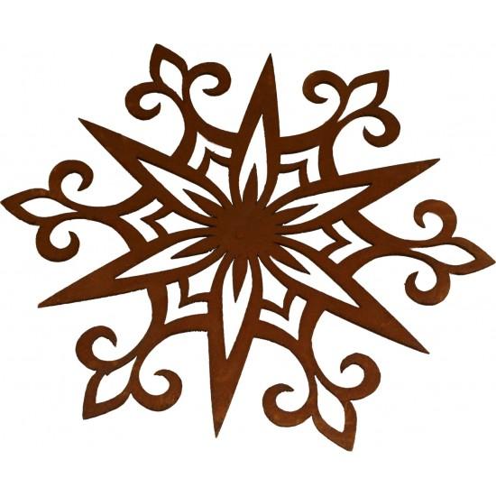Metall Schneeflocke als Fensterbild