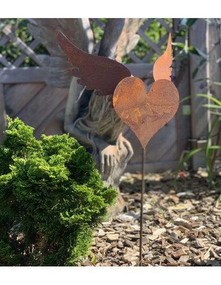 Garten Deko Herz Metall