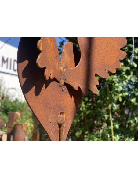 Metall Herz mit Flügeln