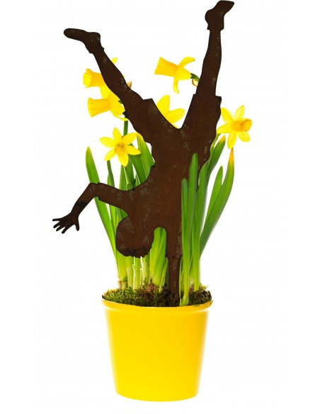 Figur Handstand als Stecker für Blumentöpfe