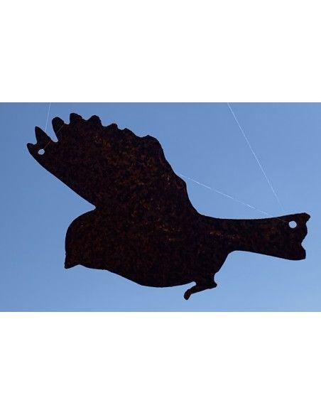Vogel Deko 3er Set fliegende Vögel zwischen 15 und 20cm z. Aufhängen 3er Set, Höhe zwischen 12 - 20 cm, mit Loch zum Aufhängen