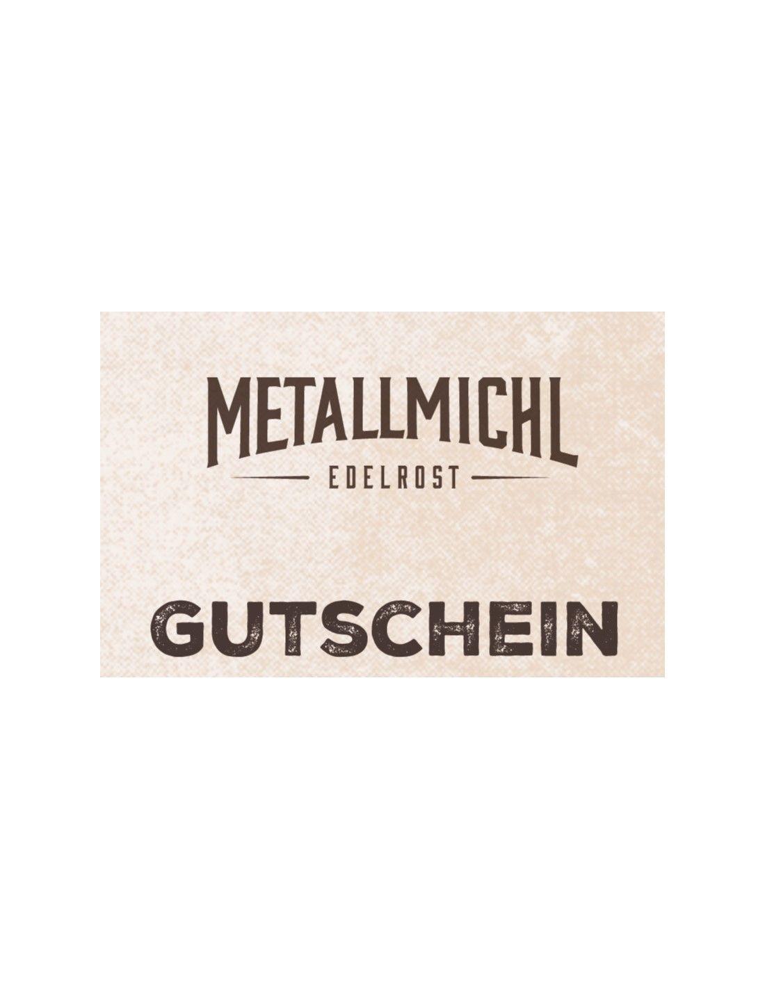 Metallmichl Geschenkgutschein online kaufen und ausdrucken
