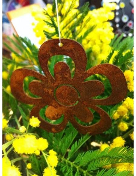 Edelrost Blume als Frühlingsdeko