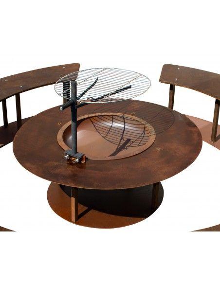 Grillstellen + große Gartengrills - Circle-Set - Feuerstelle gesondert Produktdetails: Höhe: 45 cm Durchmesser 123 cm aus sta